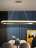 cheap -LED Pendant Light Modern Nordic Gold Circle Design 90 cm Lantern Desgin Pendant Light Metal Electroplated 110-120V 220-240V
