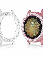 cheap -Smart watch band 2 piece bling cases compatible for galaxy watch active 2 40 mm, protective cover bumper frame replacement for galaxy watch active 2 40 mm cover, pink and clear