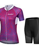 cheap -CAWANFLY Women's Short Sleeve Cycling Padded Shorts Cycling Jersey with Shorts Cycling Shorts Summer Red Bike Shorts Quick Dry Sports Mountain Bike MTB Road Bike Cycling Clothing Apparel