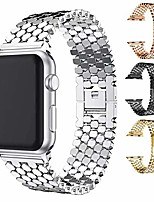 cheap -Smart watch band compatible with apple watch band 40mm 38mm 42mm 44mm iwatch bands series 6 5 4 3 2 1 se men women stainless steel replacement strap buckle clasp (silver, 42/44 mm)