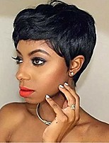 cheap -short black pixie wigs natural wavy synthetic hair wig heat resistant halloween cosplay costume wig for black women