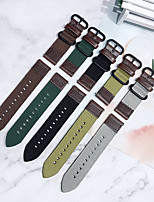 cheap -Smart Watch Band for Samsung Galaxy 1 pcs Business Band PU Leather Canvas Replacement  Wrist Strap for Samsung Galaxy Watch 46mm Samsung Galaxy Watch 42mm Samsung Galaxy Active Samsung Galaxy Watch