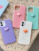 cheap -Phone Case For Apple Back Cover iPhone 12 Pro Max 11 SE 2020 X XR XS Max 8 7 Shockproof Dustproof Heart Glitter Shine TPU