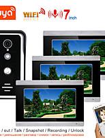 cheap -TUYA Video Intercom WIFI Video Door Phone System Home  Intercom with 7 Inch Touch Screen 3 Monitor AHD 1080P Doorbell