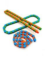 cheap -10 pcs Toys Colorful Puzzle Sensory Tracks Snap And Click Fidget Toys Kids Fidget Toys Stress Relief Rotate And Shape 24bit Wacky