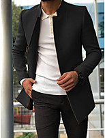 cheap -Men's Party / Evening Suits Notch Tailored Fit Single Breasted Three-buttons Slanted Flapped Solid Color Polyester