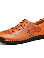 cheap -Men's Oxfords Daily Nappa Leather Breathable Light Brown Dark Brown Burgundy Spring Summer