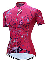 cheap -21Grams Women's Short Sleeve Cycling Jersey Summer Spandex Polyester Black / Red Butterfly Bike Jersey Top Mountain Bike MTB Road Bike Cycling Quick Dry Moisture Wicking Breathable Sports Clothing