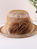 cheap -Vintage Style Elegant Organza / Polyester / Polyamide Hats / Headwear / Straw Hats with Lace / Pattern / Print / Appliques 1 PC Casual / Holiday Headpiece