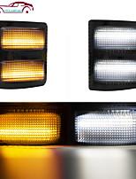 cheap -OTOLAMPARA Fit for Ford F250/ F350/ F350/ F450 Pickup Switchback White Amber Sid Marker Lights 10W T10 Original Socket OEM Light Upgrade 2pcs