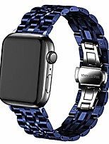 cheap -smartwatch band bracelet compatible with iwatch 38mm 42mm 40mm 44mm, solid stainless steel metal smartwatch band replacement for apple watch series 6/5 / 4/3 women men (blue, 42mm / 44mm)