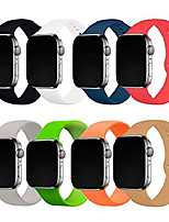 cheap -8 pack Smartwatch band for 38mm 40mm 42mm 44mm watch,soft sport bands replacement for watch series/6/5/4/3/2/1 women men (multicolor 2, 42mm/44mm s/m)
