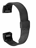 cheap -Smartwatch band 22mm mesh woven stainless steel watch strap (135mm-245mm), replacement strap compatible for fitbit charge 2 watch series, stainless steel replacement metal strap, black