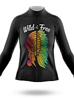 cheap -21Grams Women's Long Sleeve Cycling Jersey Summer Spandex Polyester Black Bike Jersey Top Mountain Bike MTB Road Bike Cycling Quick Dry Moisture Wicking Breathable Sports Clothing Apparel / Stretchy