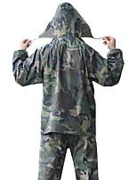 cheap -Women's Men's Rain Poncho Hiking Raincoat Rain Jacket Autumn / Fall Winter Spring Summer Outdoor Camo / Camouflage Waterproof Windproof Quick Dry Lightweight Poncho Top Hunting Fishing Climbing