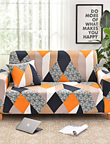 cheap -Orange Rhombus Print Dustproof All-powerful Slipcovers Stretch Sofa Cover Super Soft Fabric Couch Cover with One Free Boster Case(Chair/Love Seat/3 Seats/4 Seats)