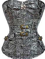 cheap -Women's Not Specified Overbust Corset - Fashion, Buckle Silver S M L