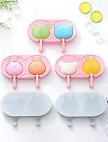 cheap -Ice Cream Maker 2 Pieces Silicone Ice Cream Mold DIY Cartoon Handmade Creative Ice Cream Popsicle Stick Ice Mold Homemade Ice Tray
