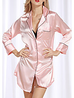 cheap -Women's Home Polyester everyday Pajamas Print Spring & Summer Print M White