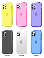 cheap -Phone Case For Apple Back Cover iPhone 12 Pro Max 11 SE 2020 X XR XS Max 8 7 6 Shockproof Dustproof Translucent Transparent Solid Colored TPU