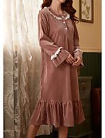 cheap -Women's Home Polyester everyday Pajamas Print Spring & Summer Print S Blushing Pink