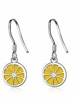 cheap -lemon earrings small lemon brass fruit dangle earring for women girls