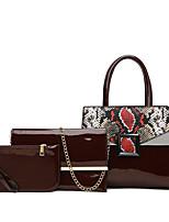 cheap -Women's Bags Bag Set 3 Pcs Purse Set Date Office & Career 2021 Wine Black Blue Brown