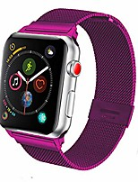 cheap -Smart watch band compatible with iwatch 38mm 42mm 40mm 44mm, fashion stainless steel metal replacement bracelet strap for apple watch series 6/SE/5/4/3/2/1 women men