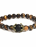 cheap -ll&tifniy chakra bead bracelets aromatherapy 8mm nature stone lava rock healing energy crown distance beads stretch bracelet for women men (tiger eye)