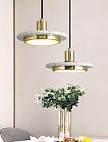 cheap -LED Pendant Light Modern Bedside Light Black White Green 20cm Single Design Metal Electroplated 110-120V 220-240V