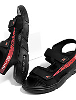 cheap -Men's Sandals Beach Daily Mesh PU Breathable Non-slipping Wear Proof Black / Red Black+Gray Summer