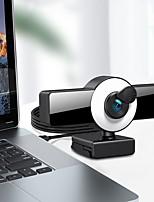 cheap -Webcam 8809 Mini Web Camera For Computer Laptop With Microphone Auto Focus Ring Light Video Webcam 1080P 2K Live Broadcast Web Cam 1K Version