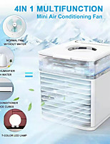 cheap -2021 Portable Air Conditioner Fan Personal Air Cooler Mini USB Rechargeable Desktop Air Conditioner Cooling Fan with 7 Color Lights