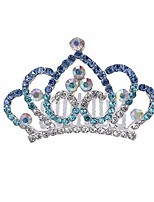 cheap -amosfun crystal girls crowns hair comb crown tiara princess headdress for children