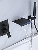 cheap -Bathtub Faucet - Contemporary Painted Finishes Wall Installation Ceramic Valve Bath Shower Mixer Taps