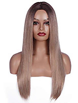 """cheap -daysskk long blonde wig for white women long wig middle part synthetic wig ash blonde long straight wig ombre blonde heat resistant 24""""+ free wig cap party wigs costume accessories for women"""