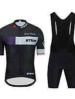 cheap -CAWANFLY Men's Long Sleeve Cycling Jersey with Tights Cycling Pants Cycling Bib Tights Spandex Black Bike Sports Geometic Mountain Bike MTB Road Bike Cycling Clothing Apparel / Micro-elastic