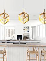 cheap -LED Pendant Light Modern Wood Design Kitchen Island Light 20 cm Mini Nature Inspired Modern Lights Cafes Dining Room Kitchen Living Room Light