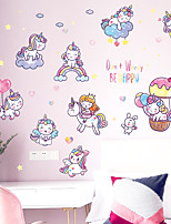 cheap -Cartoon Wall Stickers Bedroom Kids Room Kindergarten Pre-pasted PVC Home Decoration Wall Decal 1pc
