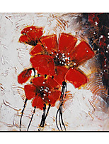cheap -Oil Painting Handmade Hand Painted Wall Art Abstract Red Flowers Home Decoration Decor  Rolled Canvas No Frame Unstretched