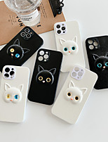 cheap -Phone Case For Apple Back Cover iPhone 12 Pro Max 11 SE 2020 X XR XS Max 8 7 6 Shockproof Dustproof Solid Colored Animal TPU