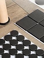 cheap -Black Self Adhesive Furniture Leg Rug Anti Scratch Floor Protectors Chair Table Foot Covers Anti Slip Furniture Chair Leg Caps
