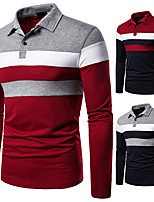 cheap -Men's T shirt Hiking Tee shirt Long Sleeve Tee Tshirt Top Outdoor Quick Dry Lightweight Breathable Sweat wicking Autumn / Fall Spring Summer Red with green Grey with red Grey with Green Hunting