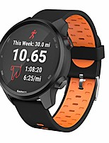 cheap -smartwatch band for vivoactive 3/3 music bracelet, forerunner 645/645 music bracelet, 245/245 music replacement strap, 20 mm quick-change replacement strap for garmin watch accessories (black-orange)