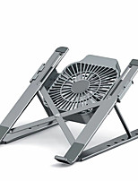 cheap -Bracket With Cooling Fan Laptop Stand for MacBook Air Pro Notebook Laptop Stand  Foldable Aluminium Alloy Laptop for PC Notebook