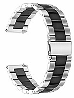 cheap -smartwatch band bracelet compatible with amazfit gtr, classic stainless steel smartwatch band for amazfit gtr 47mm smartwatch (47mm case, silver-black)