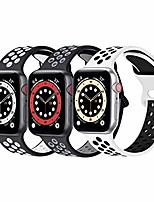 cheap -smartwatch band waterproof silicone strap compatible with apple watch strap 44mm 42mm 40mm 38mm, porous and breathable strap compatible with apple watch se / iwatch series 6/5/4/3/2/1.