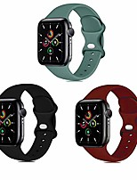 cheap -Smartwatch band sport silicone bands compatible with apple watch band 38mm 42mm 40mm 44mm, silicone sport strap replacement bands compatible for iwatch series 6/5/4/3/2/1.