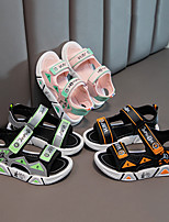cheap -Boys' Girls' Sandals Comfort Children's Day Princess Shoes PU Katy Perry Sandals Little Kids(4-7ys) Big Kids(7years +) Daily Home Water Shoes Walking Shoes Split Joint Pink Orange Green Summer