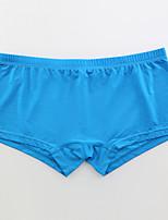 cheap -Men's 1 PC Basic Boxers Underwear Low Waist White Blue Purple S M L